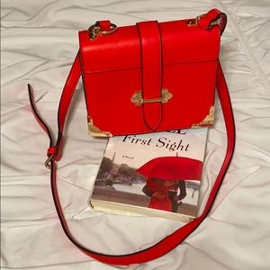 Handbags - Red adjustable shoulder or crossbody purse